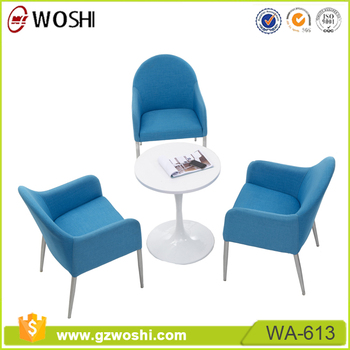 Special Style Patchwork Armchair Coffee Leisure Fabric Chairs Office  Breakout Sofa Chair With Steel Legs
