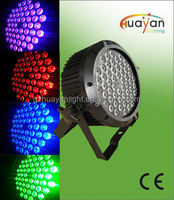 PAR RGBW 54 x 3W led DJ Mega Tri 64 Profile (Tri-Colored )Slim Par Black