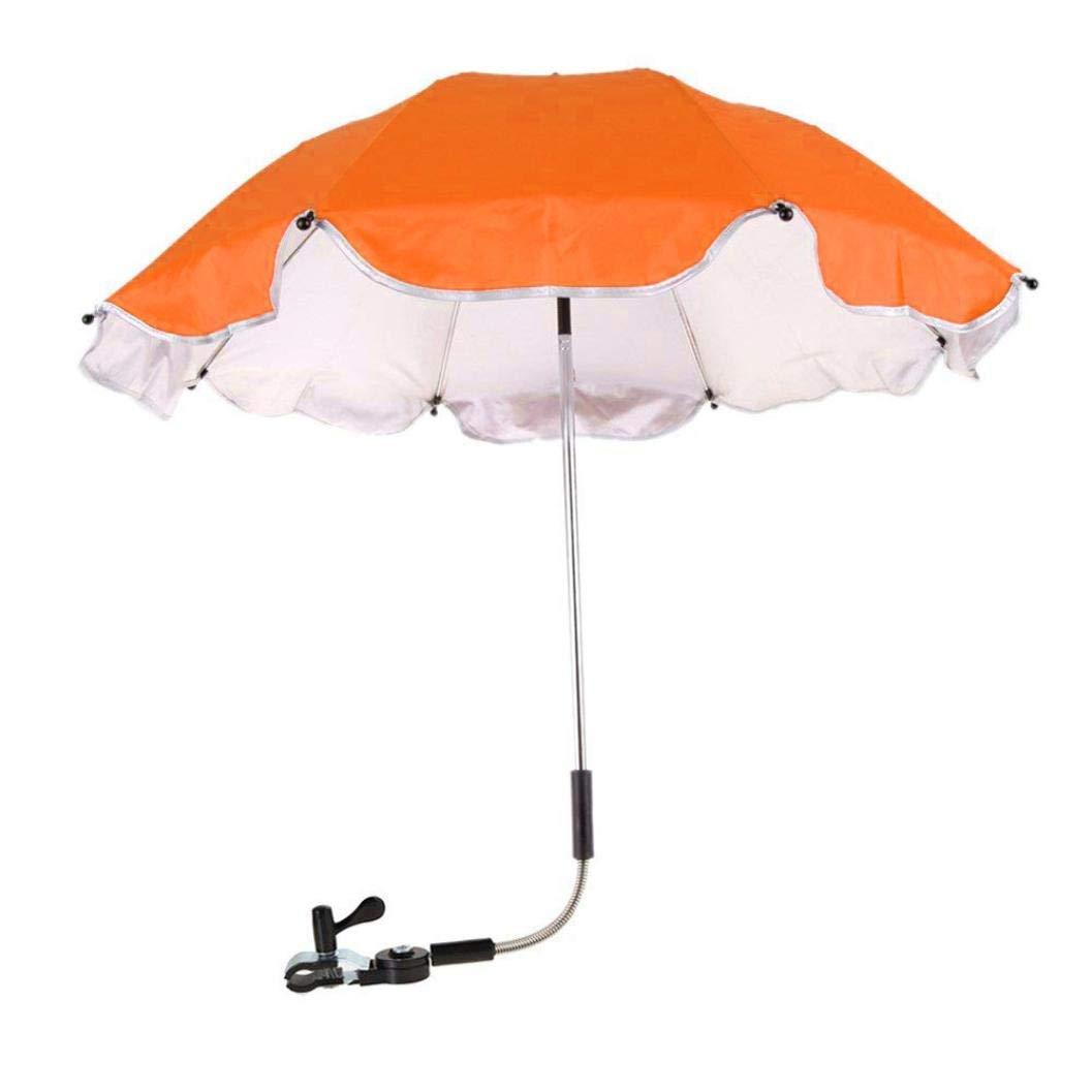 Botrong_Baby Umbrella, Stroller Cover Parasol For Sun Rain Protection UV Rays Outdoor Umbrella (Orange)