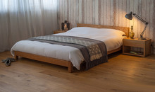 Newest design modern wood hotel bed china bedroom furniture