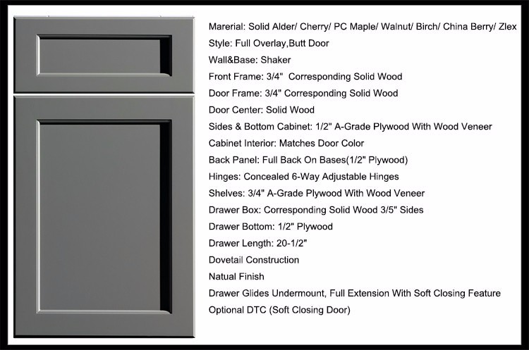 Ready Made Modular Kitchen Pantry Cabinet With Solid Wood