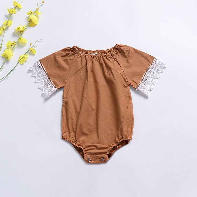 Baby Newborn Jumpsuits Baby Lace Sleeve Infant Rompers Clothing Best Item To Sell Online