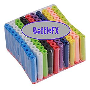 Nerf N-Strike Elite Compatible Darts / Bullets - RAINBOW COLORS - Set of 100 - Closest to Nerf Brand - Fits ALL Nerf Guns Except Mega