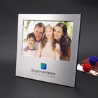 8 * 10 logotipo gravado a laser metal photo frames