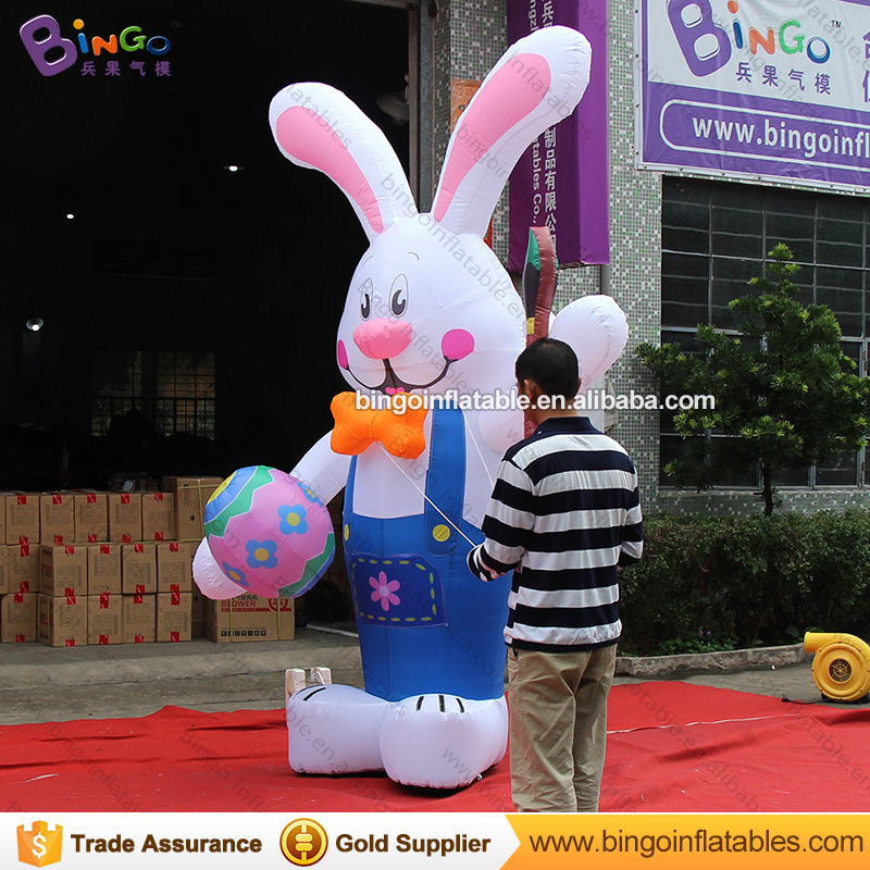 Easter Decorative Inflatable bunny rabbit / straw easter bunny with Easter Egg N Pen