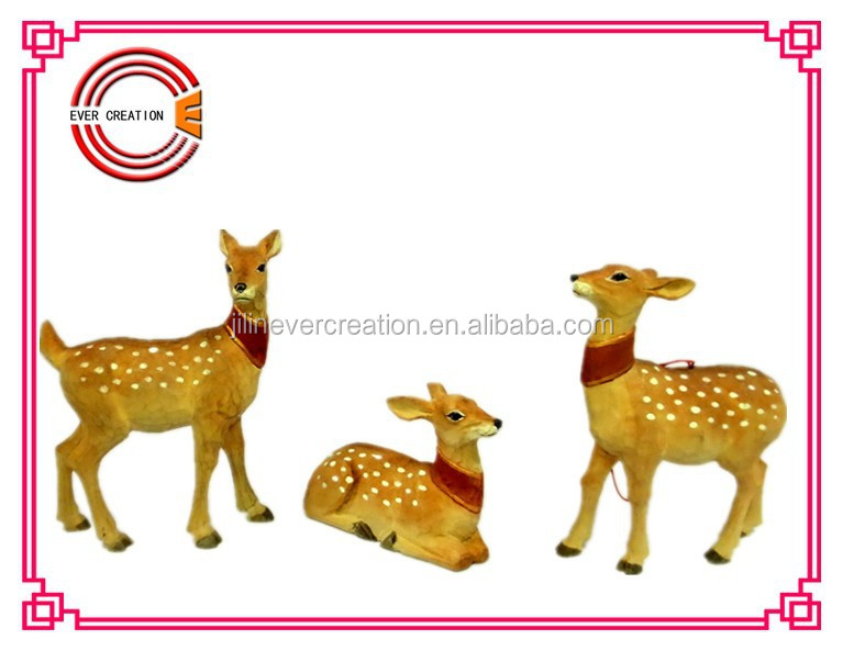 2015 christmas new hot items christmas deer decorative wooden deer for christmas