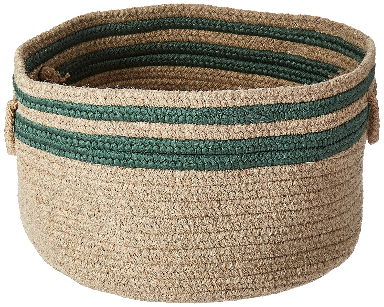 Colonial Mills Cabin Stripe Storage Utility Basket, 18 by 12-Inch, Myrtle Green