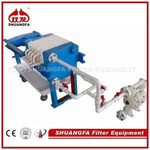 Portable Filter Press Equipment, Small Filter Press for Laboratory Use