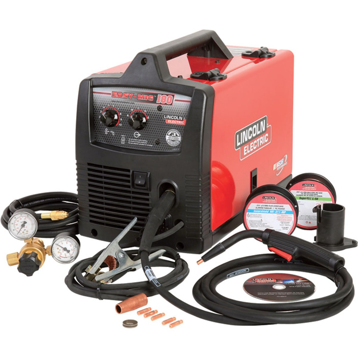 Cheap Lincoln 180 Mig Welder Find Deals On Image 50 Amp Plug Wiring Download Get Quotations Electric Easy Flux Core
