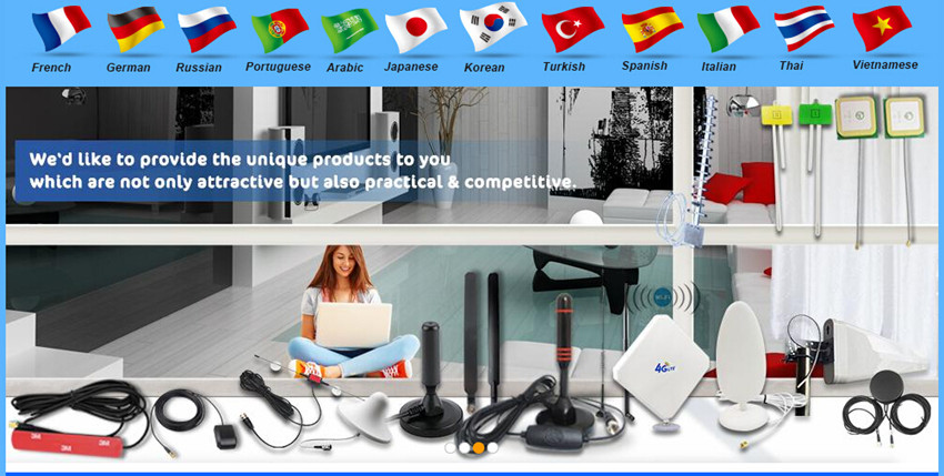 Wholesale digital Indoor TV Antenna Amplified 50 Miles Range Detachable Antena TV digital and 13ft Coaxial Cable HDTV Antenna
