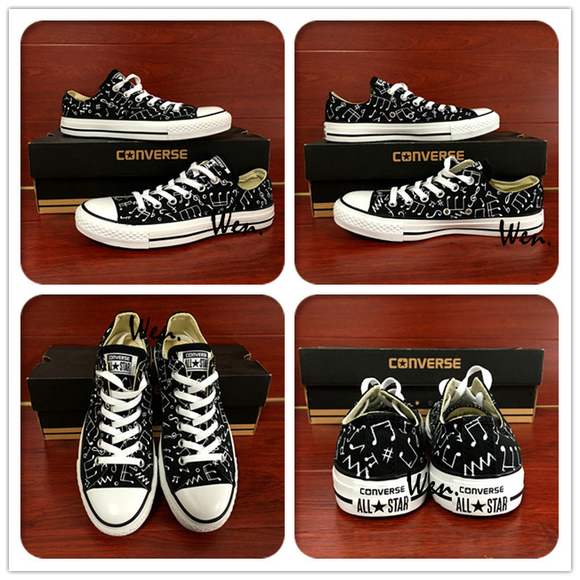 1381299d89b28b Original Converse All Star Shoes Hand Painted Music Notes Custom ...