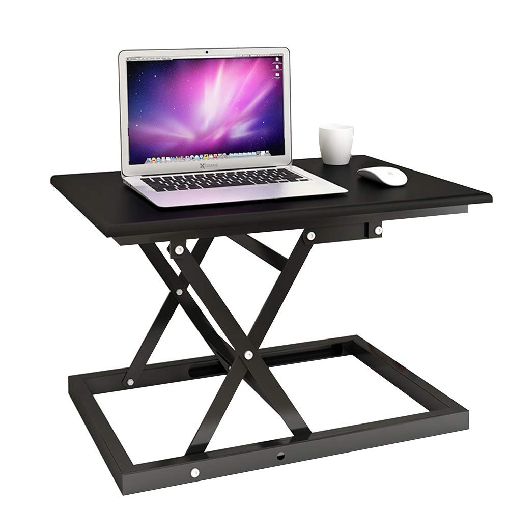 "Folding Standing Desk Adjustable Height Metal Computer Desk with Broad Desktop,Converter Sit Stand Desk 23.6"" x 15.7"" Desktop"