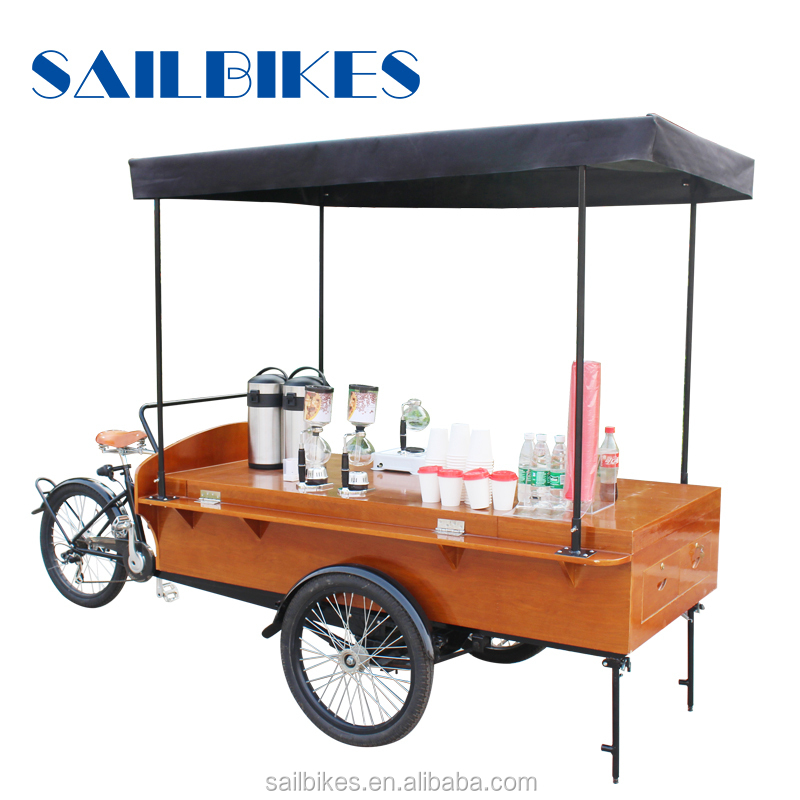 street sale coffee cart electric and pedals tricycle