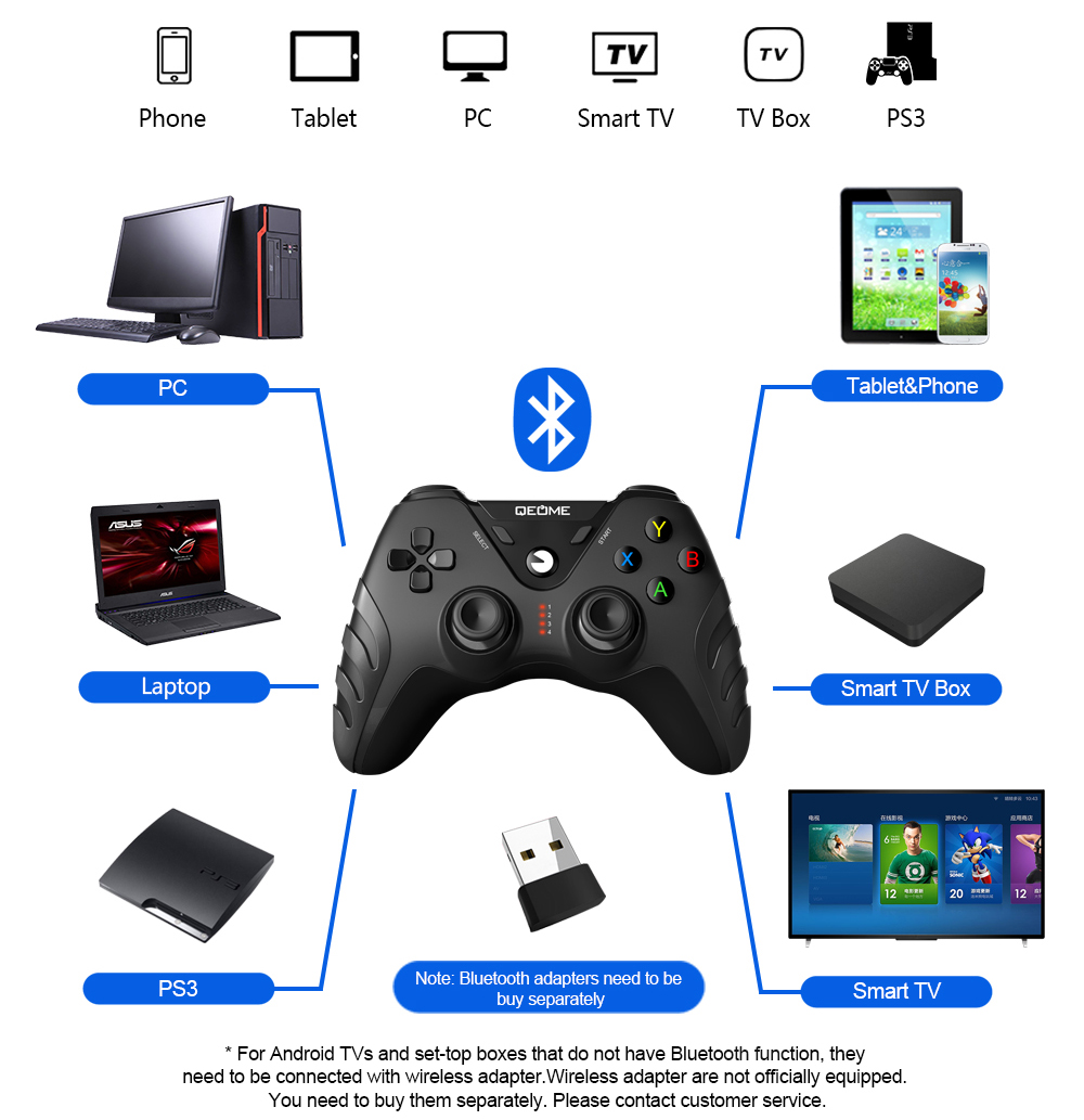 hight quality wireless game joystick gamepad android