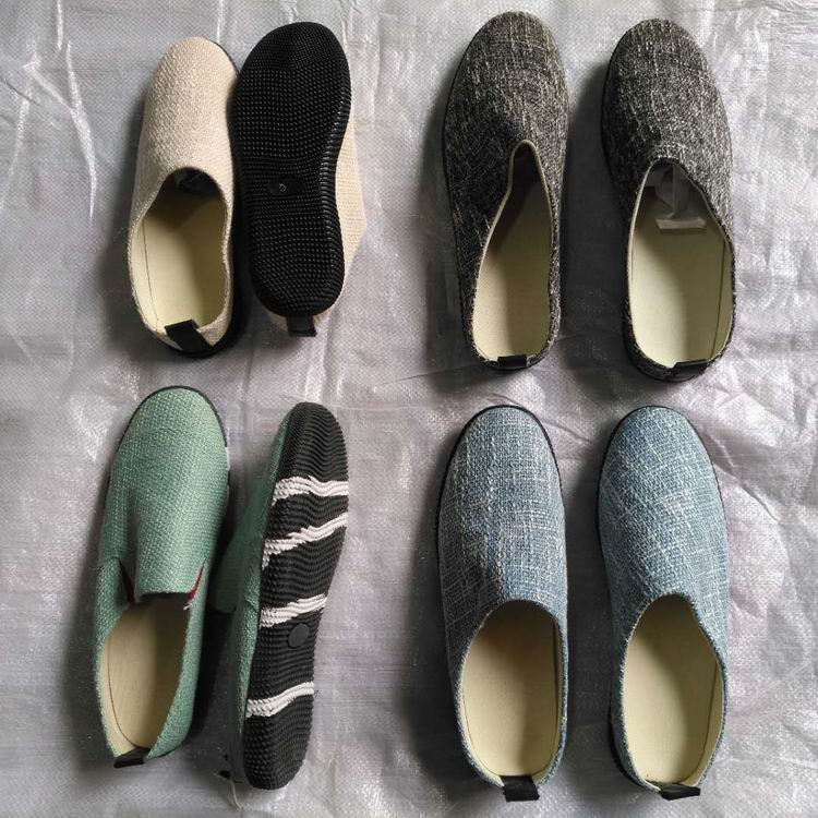 clearance stock lots canvas upper TPR outsole casual men shoes