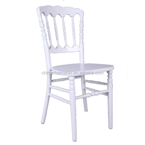 White Beech Wood Stackable Wedding Party Napoleon Chair