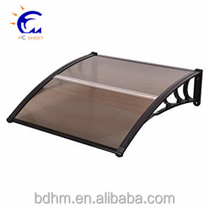 Polycarbonate canopy/polycarbonate light cover door awning /patio awning roof materials