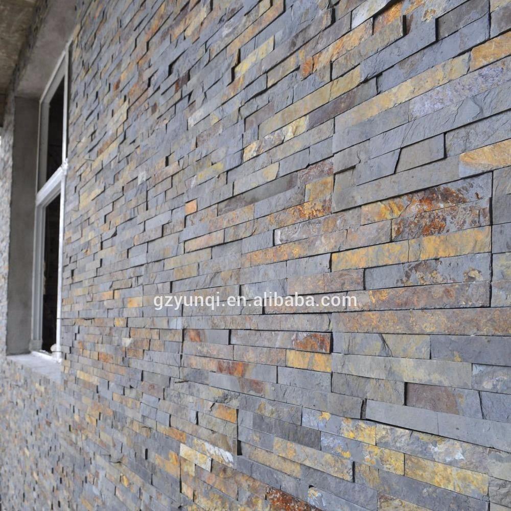 Revetement Mur Exterieur Pierre maison décoratif mur extérieur panneaux de revêtement en pierre de culture  d'ardoise rouillée pierre - buy panneaux de revêtement de mur extérieur