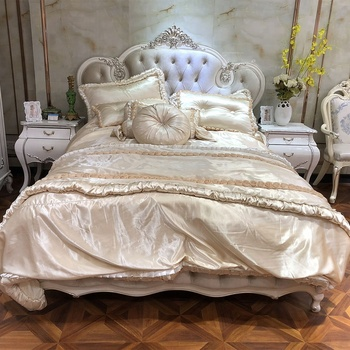 Foshan Elegant Wedding Bedroom Furniture Design In White Color With Shiny  Silver - Buy Wedding Bedroom Furniture Design,Elegant White Bedroom ...