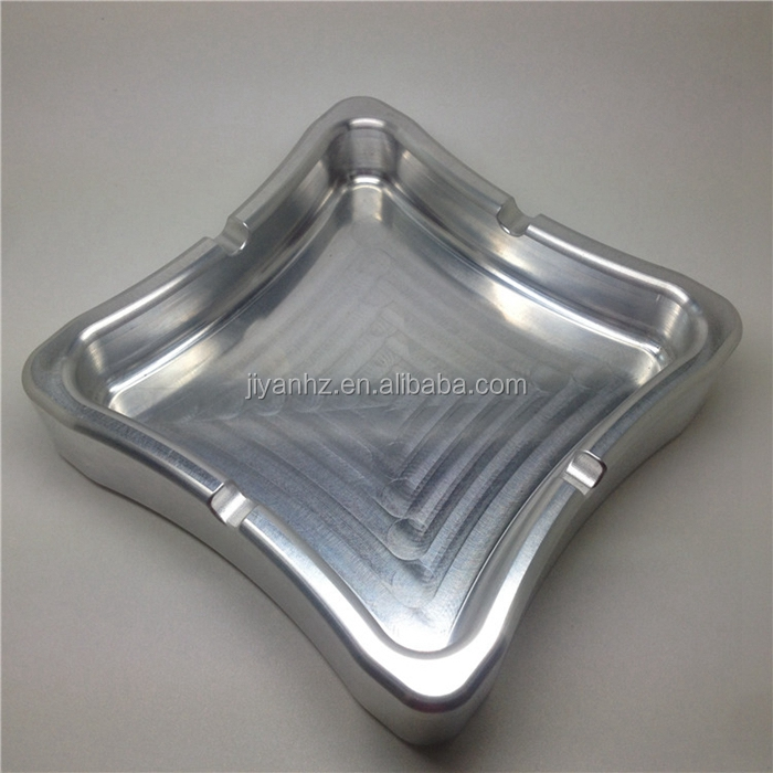 Aluminum square ashtray CNC machining parts with high quality
