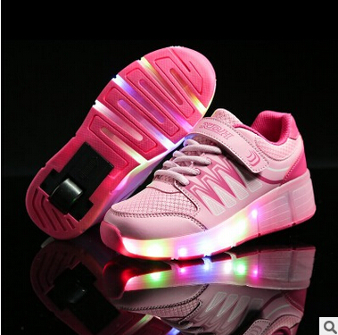 roller shoes children boy girl new automatic Wheely illuminated LED flashing skates shoes childrenswear with HOT