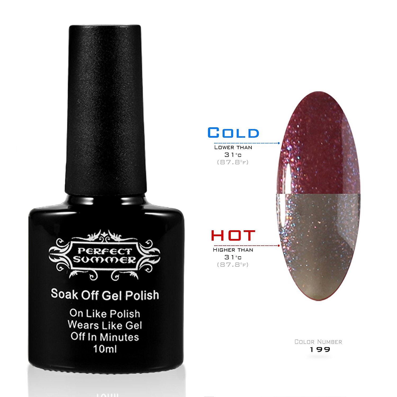 Perfect Summer 3-WEEKs Long Wearing Gel Nails Polish 10ml Temperature Colors Changes Varnish Salon Artistic Nails Lacquers UV Led Light Soak Off #199
