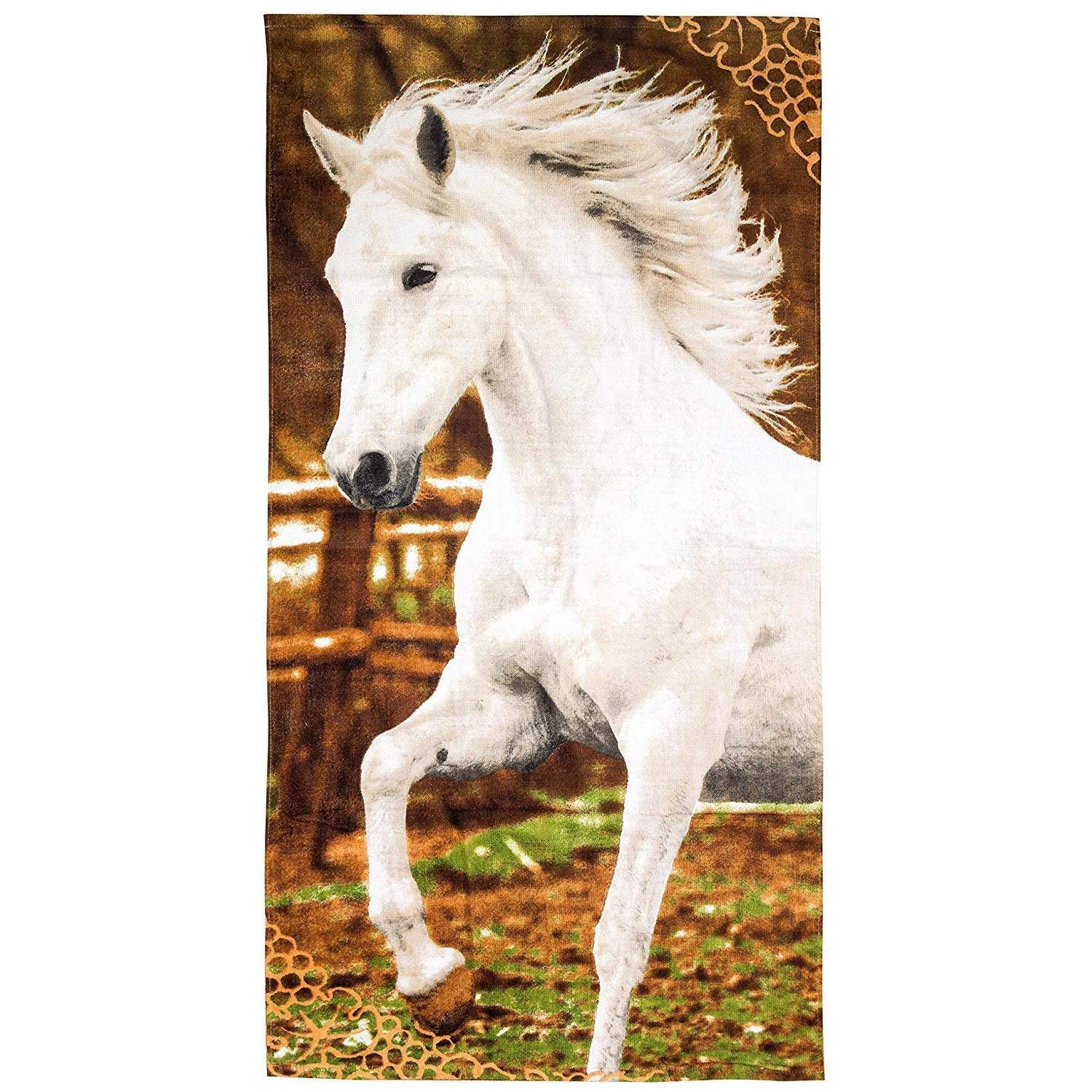 Get Quotations Jerry Fabrics Gallop Horse Beach Towel
