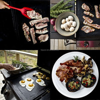BBQ Grill Mat (Set of 2) For Grilling Meat, Veggies, PIZZA, Seafood. PFOA Free, Nonstick, Reuseble, No Flame Ups