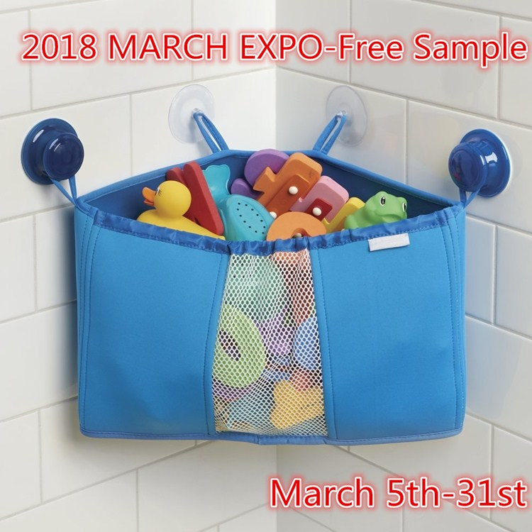 2018 MARCH EXPO Discount and Free Sample Baby Bath Toy Organizer