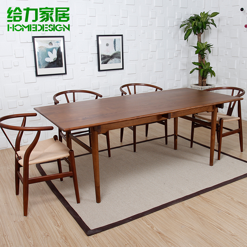 Simple Minimalist Dining Set: Solid-wood-dinette-combination-package-sets-solid-wood