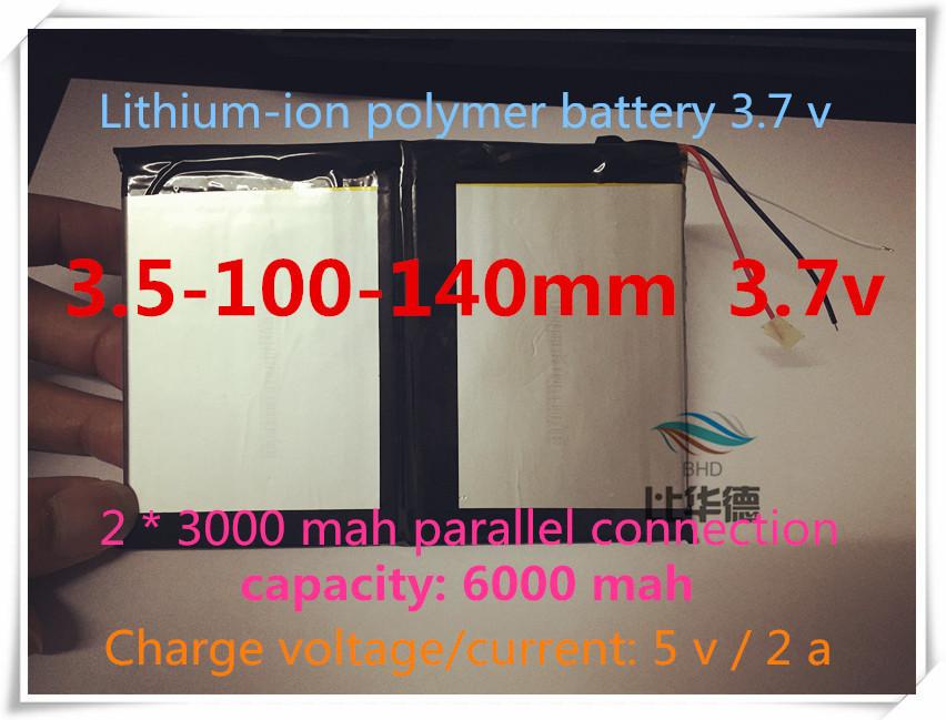 [ L388 ] 3.7 В, 6000 мАч, [ 35100140 ] ( полимер литий-ионный / литий-ионный аккумулятор ) для планшет пк, mp4, сотовый телефон, динамик ; куб, pipo, onda