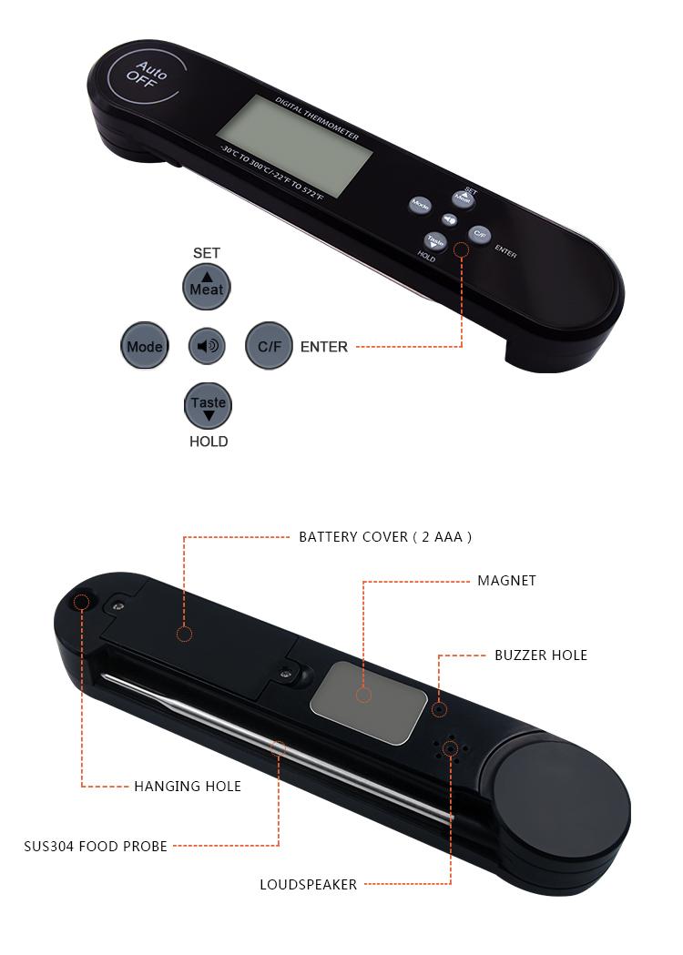 waterproof digital meat thermometer
