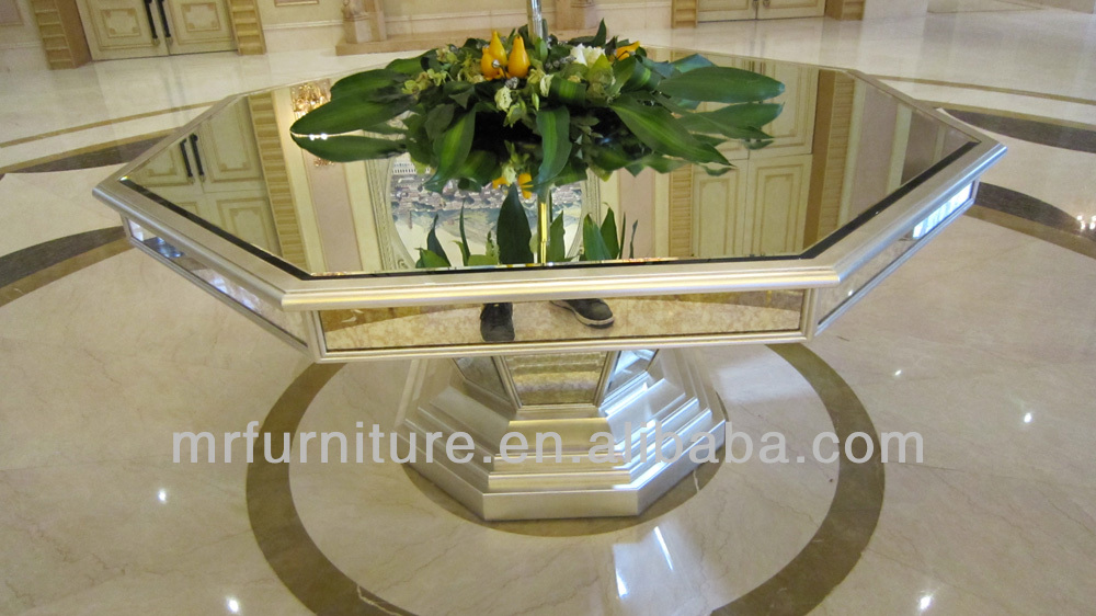 Octagonal Luxury Mirrored Dining Room Furniture Dining Tables - Buy ...