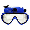 Outdoor sports/hunting recording Diving mask DVR waterproof 30 meters digital camera