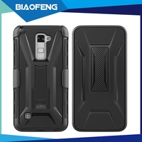 Wholesale flying adjustable tpu pc combo mobile phone case with handle for lg stylus 2