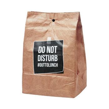Waterproof Custom Tyvek Lunch Paper Bag