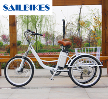 Cheap Price 6 Speeds Electric Adult Tricycle