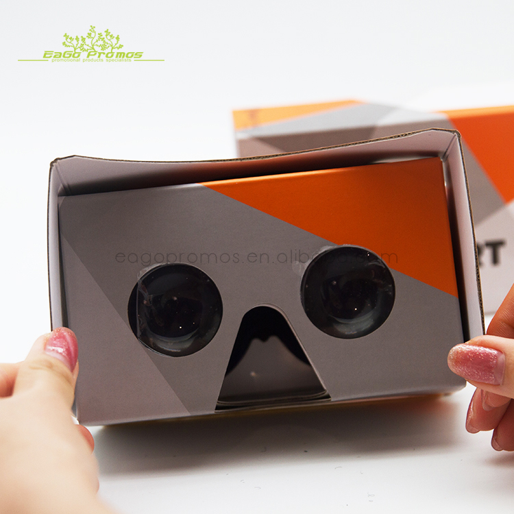 Hot Sale  Custom Assembled 3d VR Headset Virtual Reality Cardboard Viewer Google Cardboard GlassesV2.0