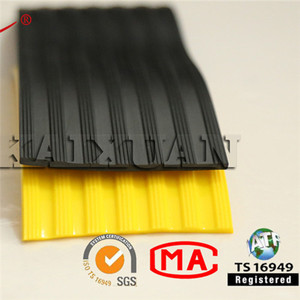 Floor anti slip rubber stair nosing strips to inserted in a aluminum profile