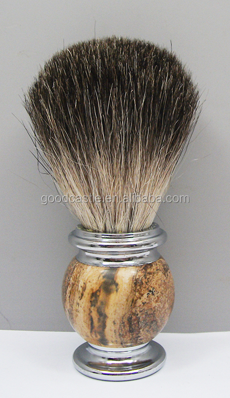 Popular badger hair shave brush with mixed badger hair knots
