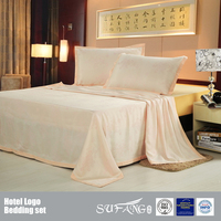 100% Bamboo Fiber Flower Design Bedding Set Jacquard Bed Cover/Bed Sheet