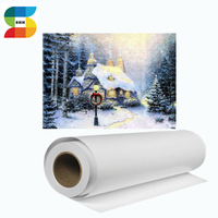 White Polyester Cotton Fabric Canvas Rolls