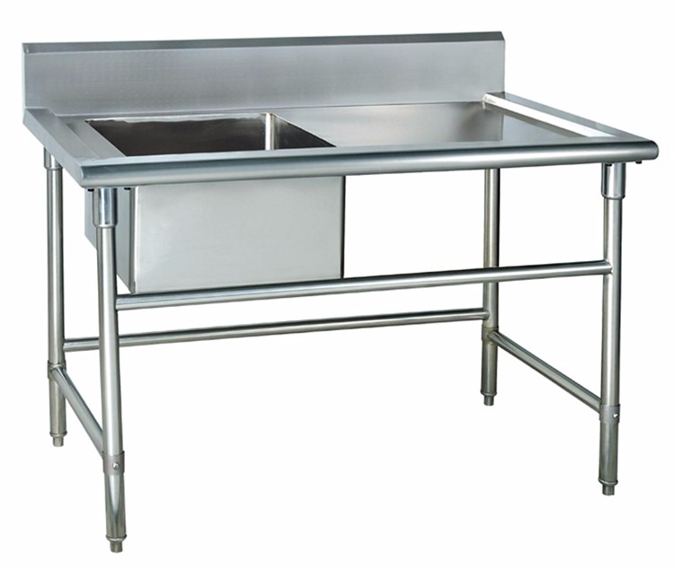 ... 1.8 Meter Kitchen Stainless Steel Sink / Stainless Steel Work Table  With Under Shelf / Stainless - 1.8 Meter Kitchen Stainless Steel Sink / Stainless Steel Work