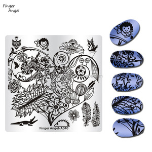 Nail Art Factory Price Stamping Nail Art Plate Costum Design Nail Template