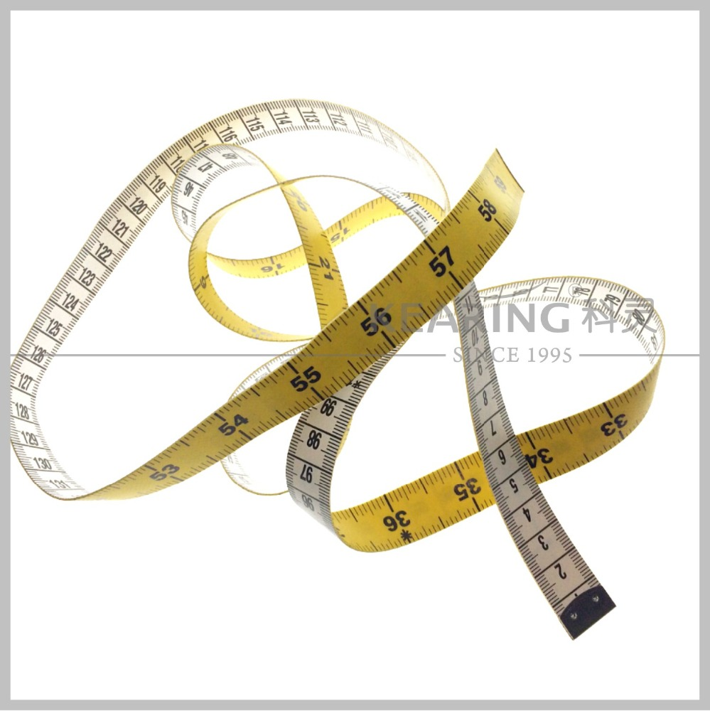 Kearing promotional soft fiberglass 150cm&60 inch sewing tailor tape measure tools 1.3mm thickness packaged in bulk # KTP1513