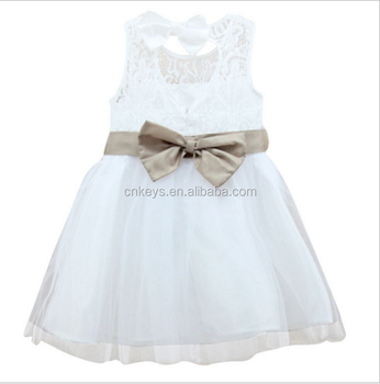 9d09017dd3c3 E0101A Summer Baby Girls Party Dresses Flower Gauze Dress For 3-8 Years  Toddle Kids