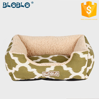 recycle fake linen custom digital printing wholesale dog beds