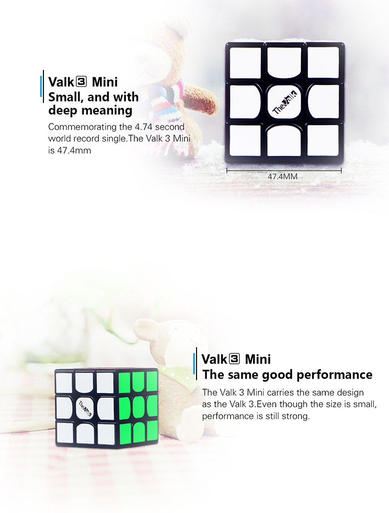 Brand plastic Valk3 mini puzzle cube training brain teaser toys from chenghai