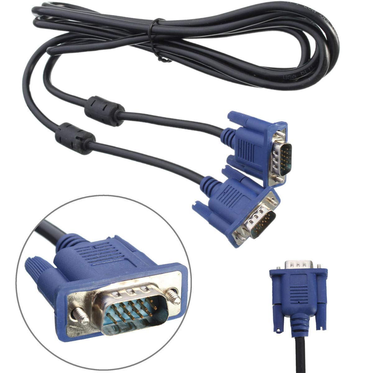 3 Feet Connects HDTV/'s /& Graphics Cards Shielded Copper VGA Video Cable KabelDirekt SVGA Top Series VGA Cable Male to Male Computer Monitor Cables