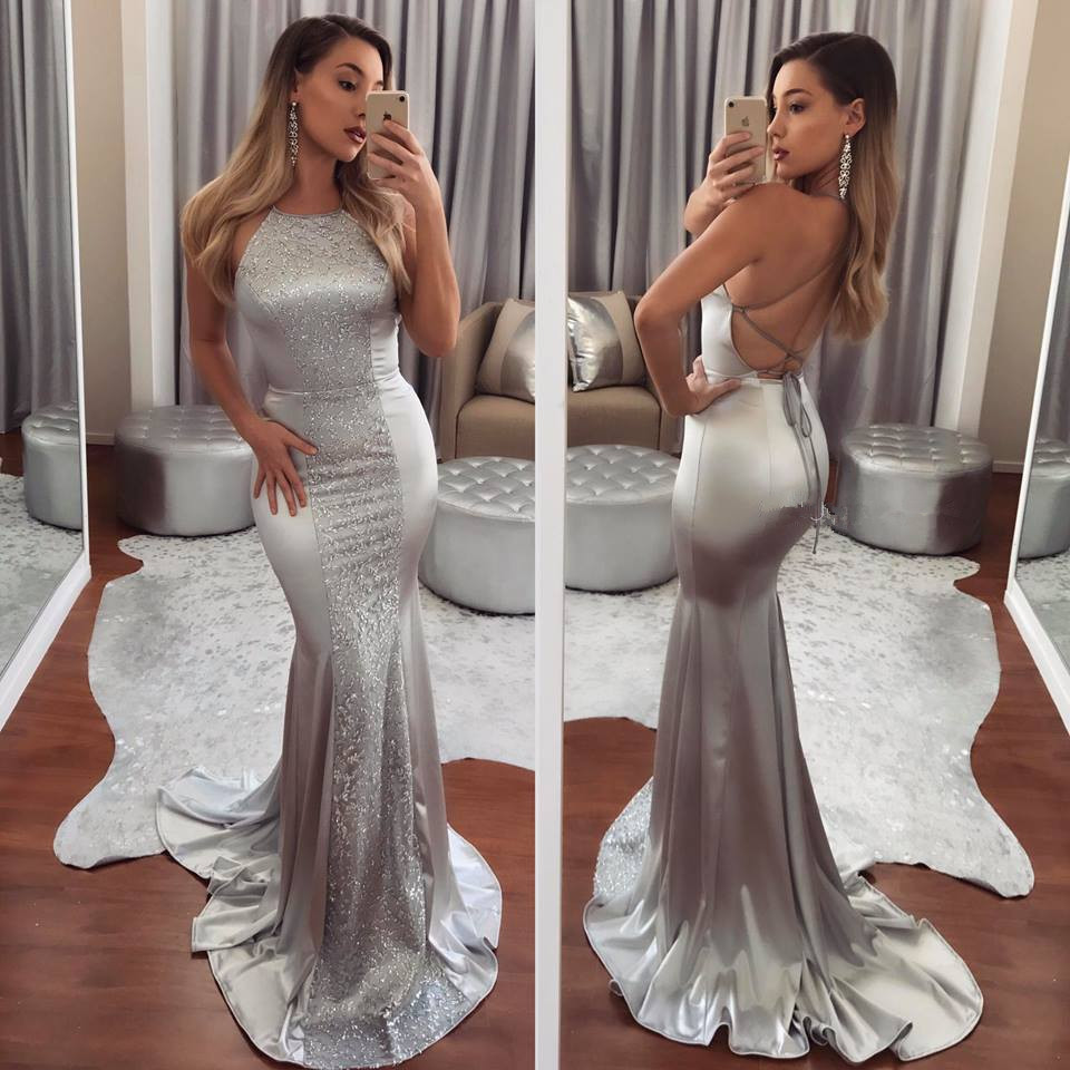 4f49c129a4ba6 Best Lady Silver Prom Dress 2019 Evening Dress Long Gown Mermaid Full Gown  Party Wear Gowns Designs For Ladies - Buy Full Gown Party Wear ...